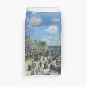 Pont Neuf Paris Painting by Auguste Renoir Duvet Covers