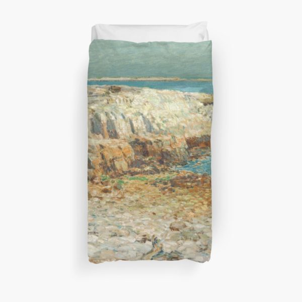 A North East Headland Oil Painting by Childe Hassam Duvet Covers