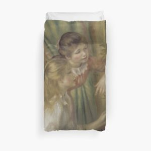 Young Girls at the Piano Oil Painting by Pierre Auguste Renoir Duvet Covers