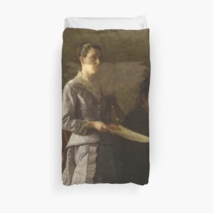 Singing a Pathetic Song Oil Painting by Thomas Eakins Duvet Covers