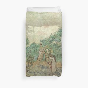 The Olive Orchard by Vincent van Gogh - Classic Art Duvet Covers