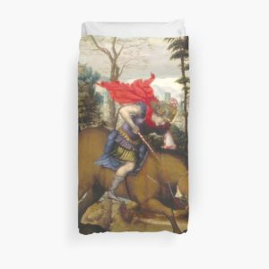 Saint George and the Dragon Oil Painting by Sodoma Duvet Covers