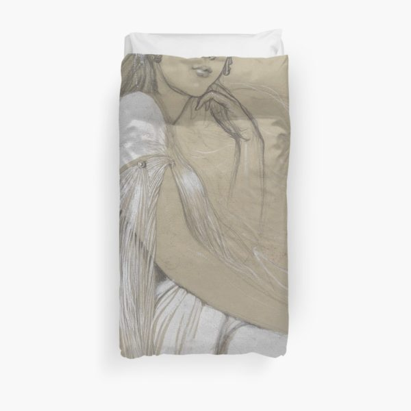 The artists daughter by Jaroslava Drawing Duvet Covers