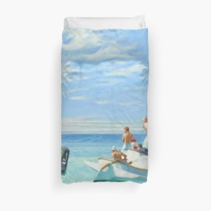Ground Swell Oil Painting by Edward Hopper Duvet Covers
