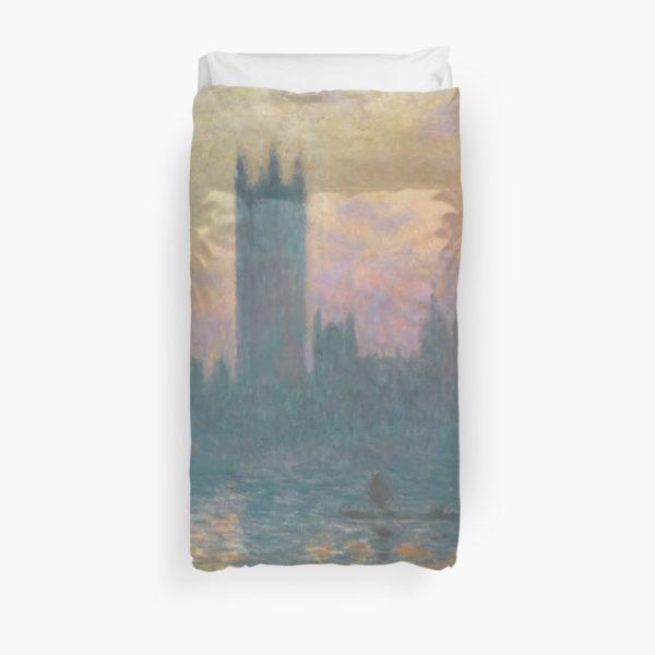 The Houses of Parliament  Sunset by Claude Monet Duvet Covers