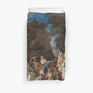 The Feast of the Gods Painting by Giovanni Bellini and Titian Duvet Covers