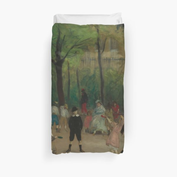 Luxembourg Gardens Oil Painting by William James Glackens Duvet Covers