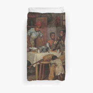 A Pastoral Visit Oil Painting by Richard Norris Brooke Duvet Covers