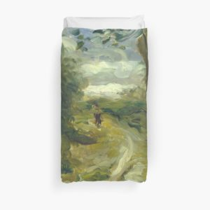 Landscape Between Storms Oil Painting by Auguste Renoir Duvet Covers