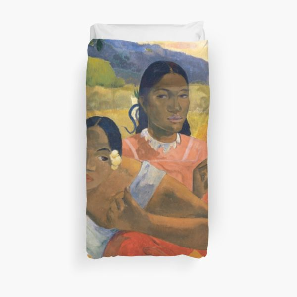 Affordable Art $300,000,000 When Will You Marry by Paul Gauguin Duvet Covers