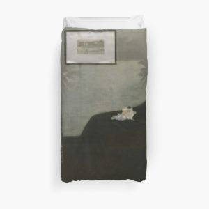 Whistlers Mother Oil Painting by James McNeill Whistler Duvet Covers