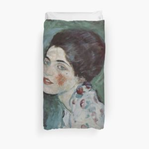 Stolen Art - Portrait of a Lady by Gustav Klimt Duvet Covers