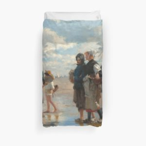 Setting Out to Fish Oil Painting by John Singer Sargent Duvet Covers