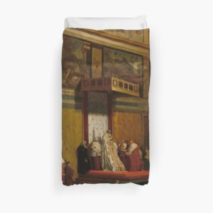Pope Pius VII in the Sistine Chapel Oil Painting by Jean-Auguste-Dominique Ingres Duvet Covers
