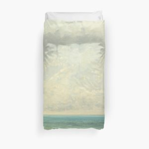 Calm Sea Oil Painting by Gustave Courbet Duvet Covers