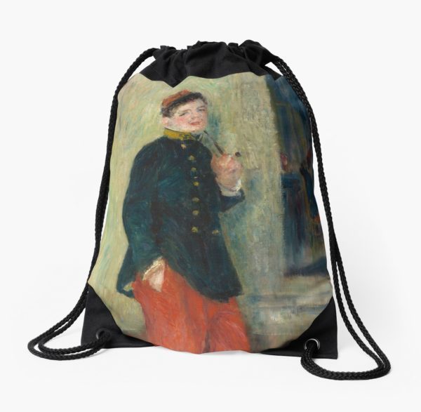 The Young Soldier oil Painting by Auguste Renoir Drawstring Bags