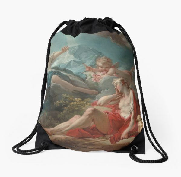 Diana and Endymion Oil Painting by Jean-Honoré Fragonard Drawstring Bags
