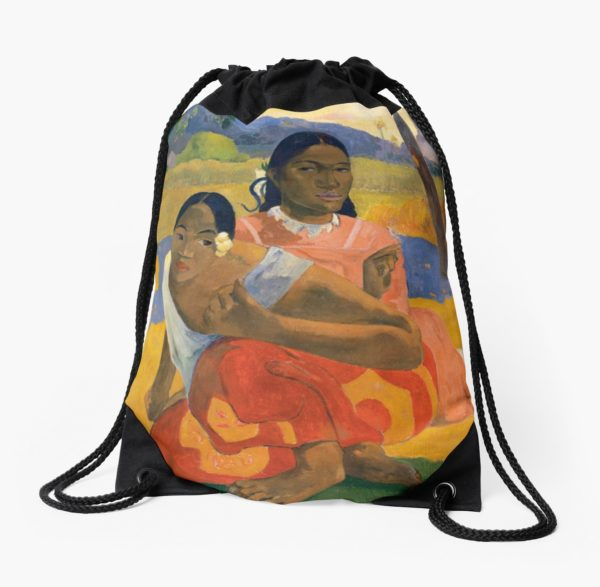 Affordable Art $300,000,000 When Will You Marry by Paul Gauguin Drawstring Bags