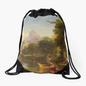 The Voyage of Life Youth Painting by Thomas Cole Drawstring Bags