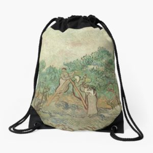The Olive Orchard by Vincent van Gogh - Classic Art Drawstring Bags