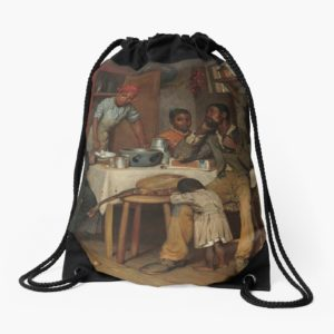 A Pastoral Visit Oil Painting by Richard Norris Brooke Drawstring Bags