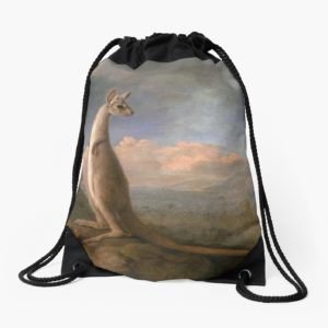 The Kongouro Oil Painting by Australian Artist George Stubbs Drawstring Bags