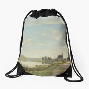 Argenteuil by Claude Monet Drawstring Bags