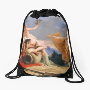 Oil Painting Apollo Pursuing Daphne by Giovanni Battista Tiepolo Drawstring Bags