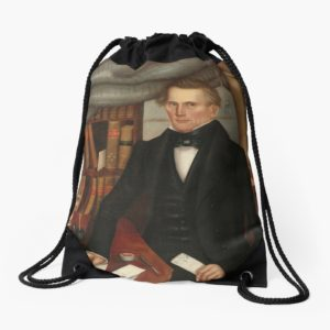 Vermont Lawyer Oil Painting by Horace Bundy Drawstring Bags