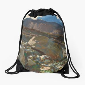 Simplon Pass Oil Painting by  John Singer Sargent Drawstring Bags