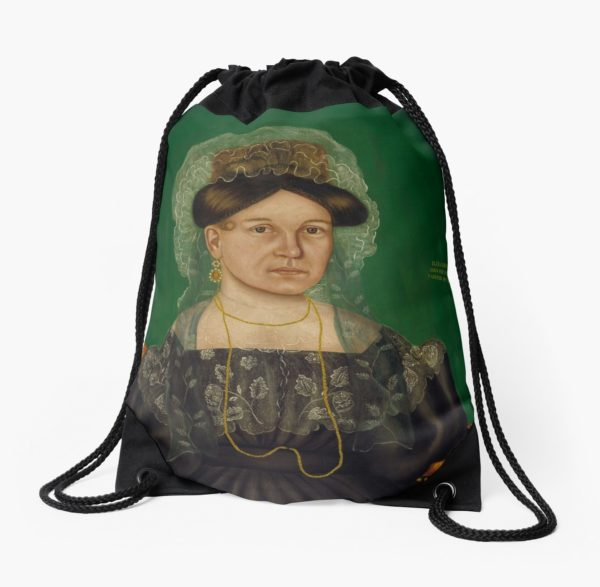 Eliza R. Read Oil Painting by Royall Brewster Smith Drawstring Bags