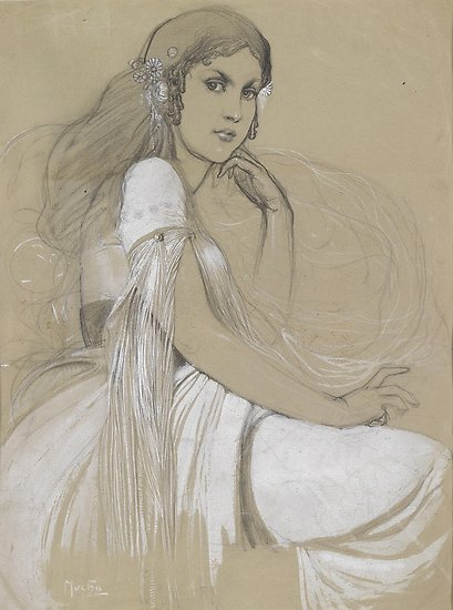 The artists daughter by Jaroslava Drawing Posters
