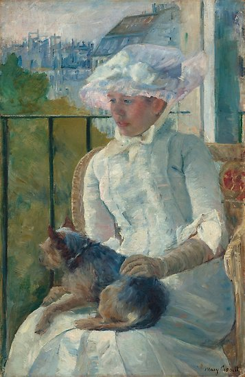 Young Girl at a Window Oil Painting by Mary Stevenson Cassatt Posters