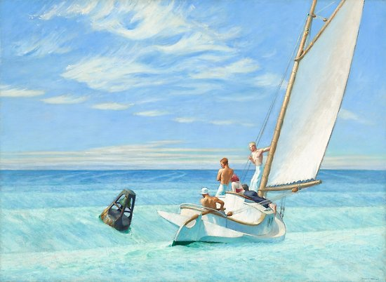 Ground Swell Oil Painting by Edward Hopper Posters