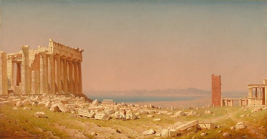Ruins of the Parthenon Oil Painting by Sanford Robinson Gifford Posters