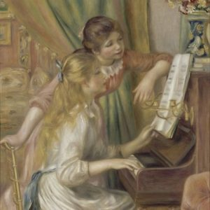 Young Girls at the Piano Oil Painting by Pierre Auguste Renoir Posters