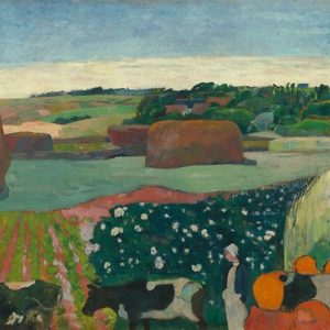 Haystacks in Brittany Oil Painting by Paul Gauguin Posters