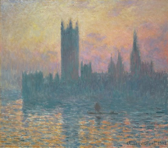 The Houses of Parliament  Sunset by Claude Monet Posters