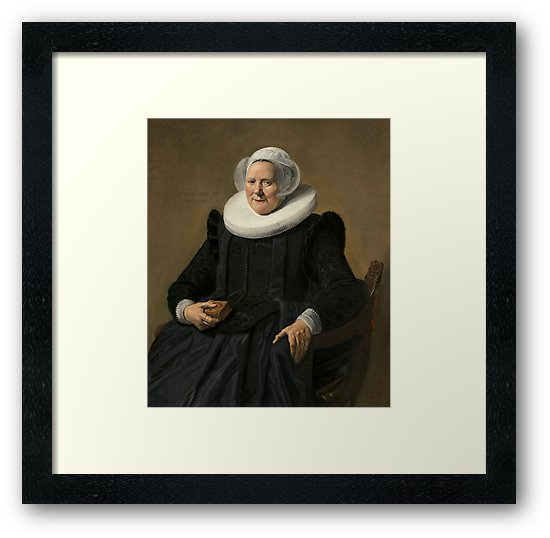 Portrait of an Elderly Oil Painting Lady by Frans Hals Framed Prints