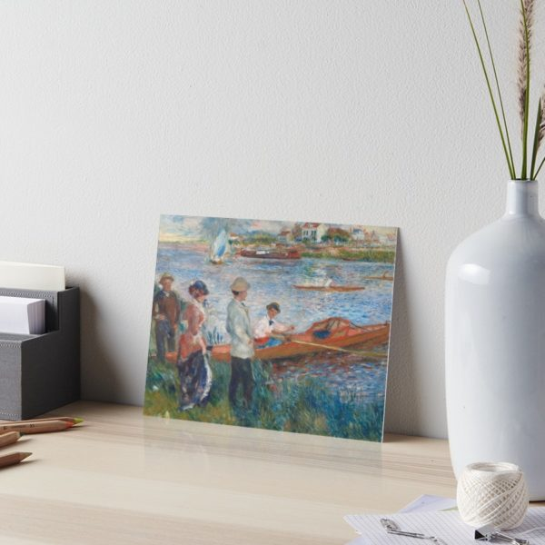 Oarsmen at Chatou Painting by Auguste Renoir Art Boards