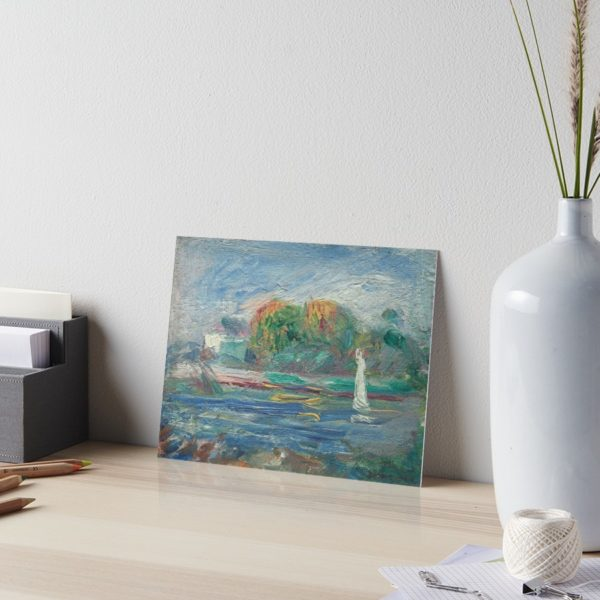 The Blue River Oil Painting by Auguste Renoir Art Boards