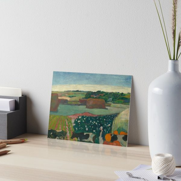 Haystacks in Brittany Oil Painting by Paul Gauguin Art Boards
