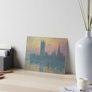 The Houses of Parliament  Sunset by Claude Monet Art Boards