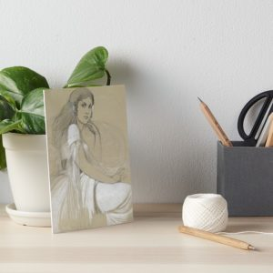 The artists daughter by Jaroslava Drawing Art Boards