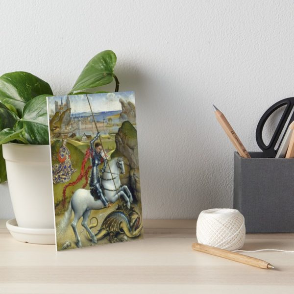 Saint George and the Dragon Oil Painting by Rogier van der Weyden Art Boards