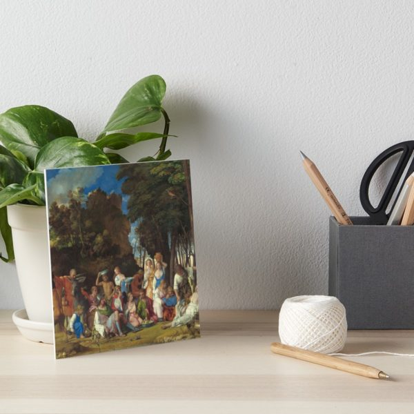 The Feast of the Gods Painting by Giovanni Bellini and Titian Art Boards