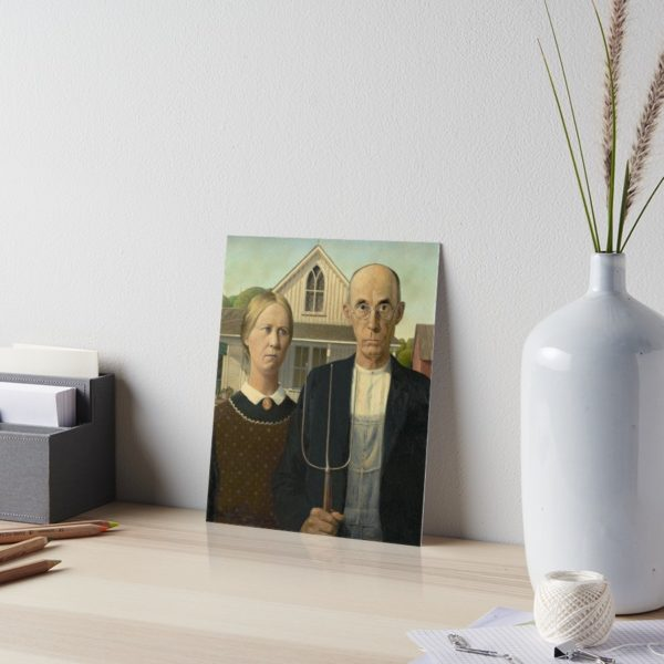 American Gothic Oil Painting by Grant Wood Art Boards