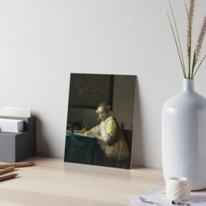 A Lady Writing Oil Painting by Johannes Vermeer Art Boards