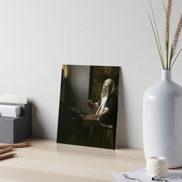 Woman Holding a Balance Oil Painting by Johannes Vermeer Art Boards