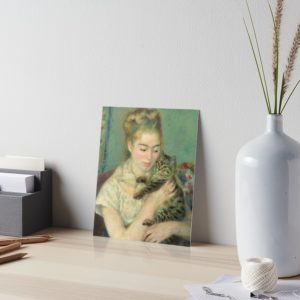 Woman with a Cat Oil Painting by Auguste Renoir Art Boards